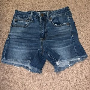 American Eagle High-Rise Shortie Shorts